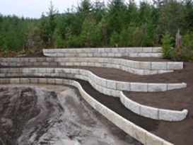 after retaining wall construction